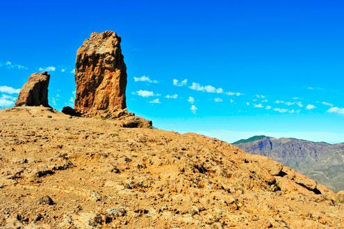 Trekking antes de llegar al Roque Nublo, Gran Canaria