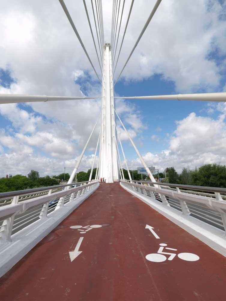 Carril bici en Sevilla, Puente del Alamillo