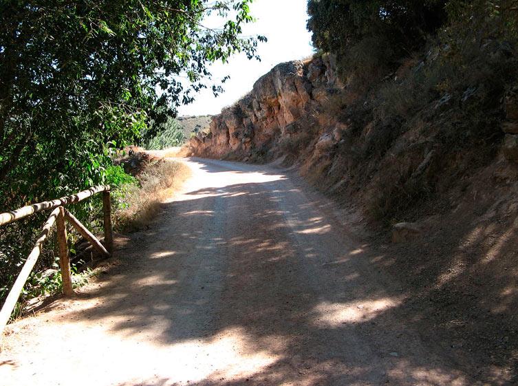 Camino del Quijote, en las lagunas de Ruidera